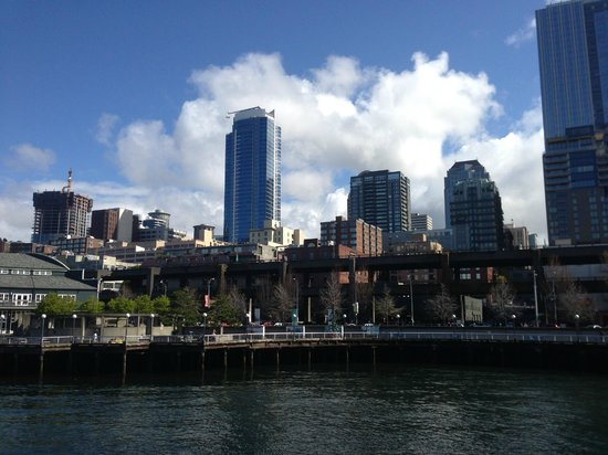 Seattle Marriott Waterfront: View from Ferry