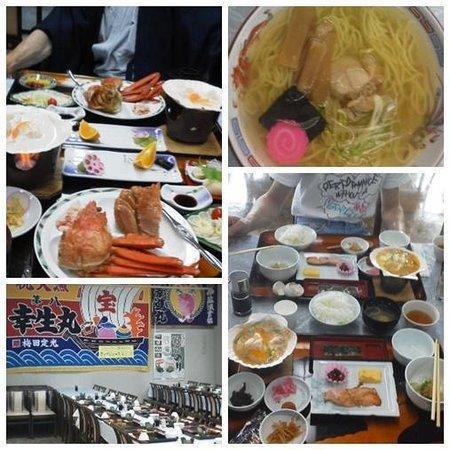 Sarufutsu-mura, Jepang: 3大蟹の他に、ほたて料理。夜食にほたてラーメン