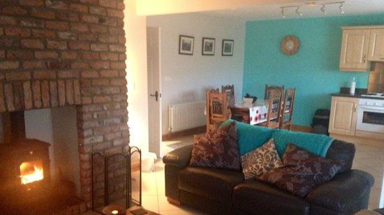 Crockatinney Self-Catering Cottages : Living room/kitchen area on arrival