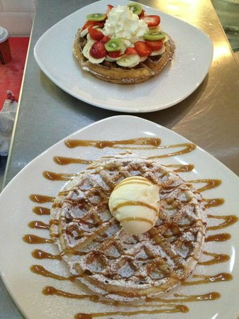 DownTown Cafe: our home made waffles