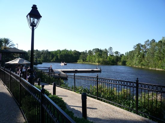 Disney's Port Orleans Resort - French Quarter: View from the queuing area for the water taxi to Downtown Disney