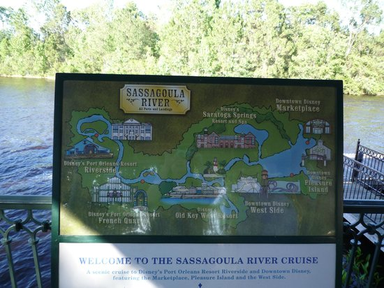 Disney's Port Orleans Resort - French Quarter: Map of the river taxis