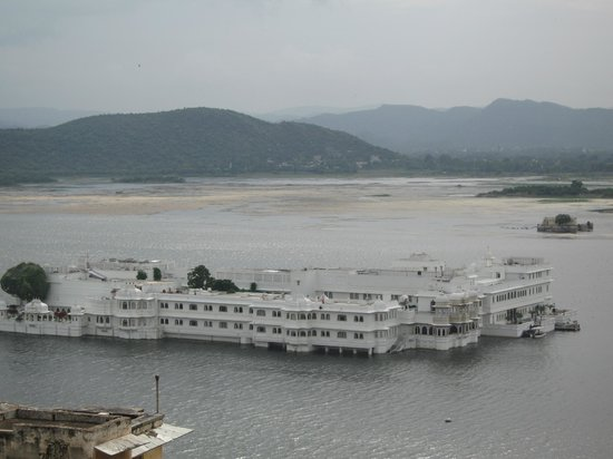 Taj Lake Palace Udaipur: View of Lake Palace from the City Palace