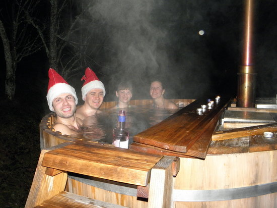 Tubej Apartments : outdoor - hot tub - jacuzzy - 35 - 40C