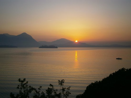 Sunset over Lago Maggiore from Hotel Splendid, Baveno