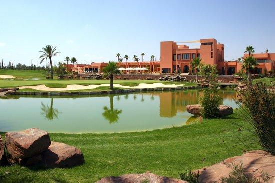 Atlas Golf Marrakech : photo prise du trou n°1