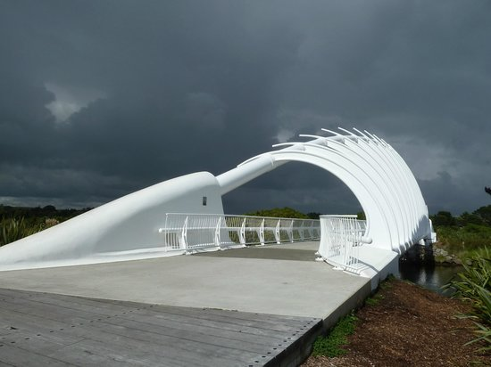 Coastal Walkway: The Bridge just before the rain