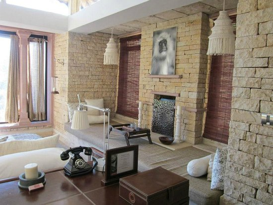 Pashan Garh: Window Seat in our stone cabin