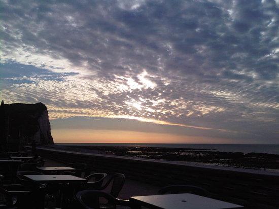 Hotel de la Mer : Coucher de soleil en terrasse