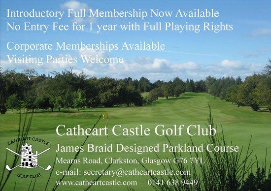 Cathcart Castle Golf Club: Cathcart Castle - Memberships Available