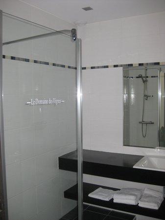 Hotel Le Domaine des Vignes : La salle de bain... mais ne vous y trompez pas