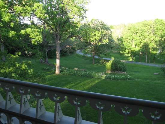 Garth Woodside Mansion Estate: View from 2nd floor balcony