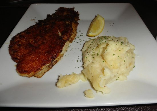 Parmesan crusted white fish and mashed potatoes picture for Parmesan crusted fish