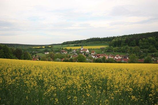 Ortsansicht Burgwallbacher staatl. anerkannter Erholungsort
