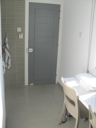 St George Rent Rooms: Narrow passage serves as Kitchenette and dining area