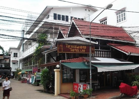 Hotel Lao street frontage