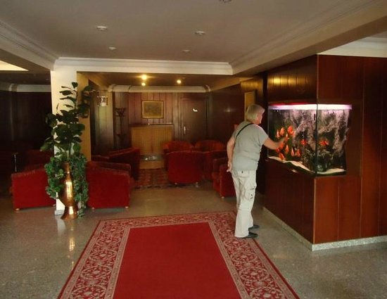 Hotel Mithat: Area next to the reception desk