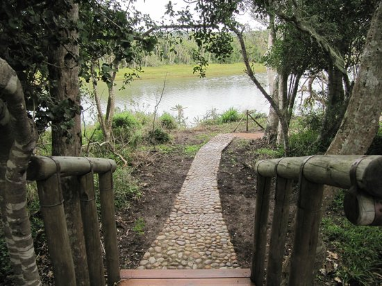 Sibuya Game Reserve & Tented Camp: Stairs to our room