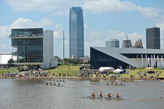 Oklahoma City Boathouse District: The Boathouse District is the site of national & international rowing & canoe/kayak events