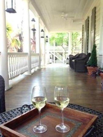 Zero George Street: Wine on the veranda