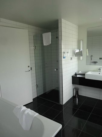 Radisson Blu Hotel, Malmo: Bathroom was very practical but boiling!