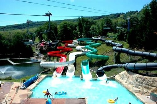 Camelbeach Mountain Waterpark: Grab a tube, and ride the twists and turns of our four famous tube slides!