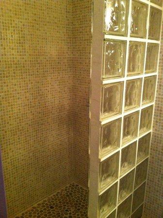 Boutique Hotel Couleurs du Sud: Simple but clean shower