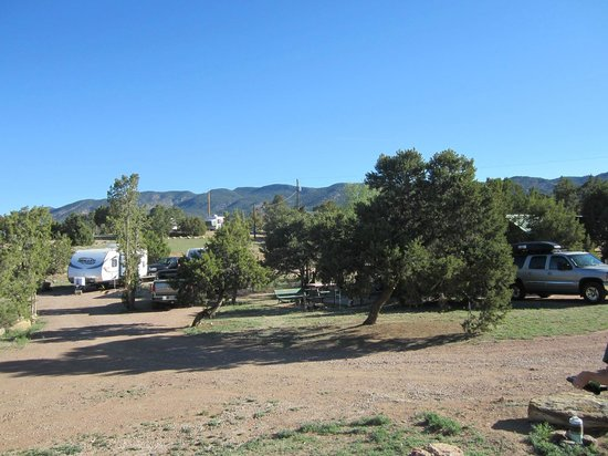 Prospectors RV Resort: View of campsites 71, 70, and 69