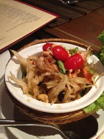 Lai Thai: Salade de papaye verte... un délice!!!