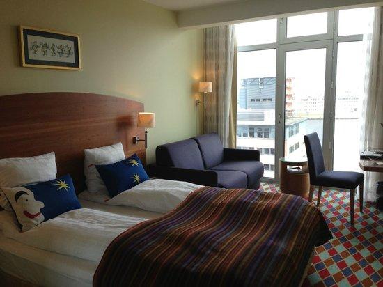 Tivoli Hotel : værelse på 8. sal med udsigt