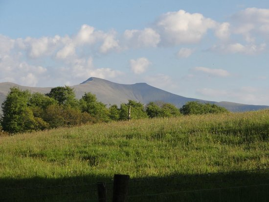 Felin Glais: Pen-y-Fan from the garden