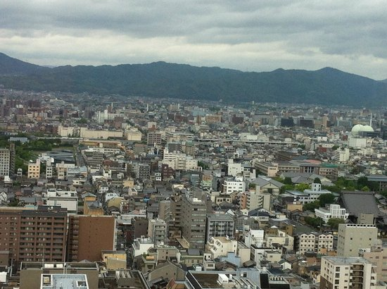 Kyoto Plaza Hotel: panoramic view from the tower.