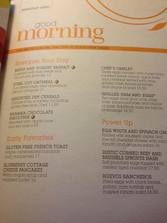 Sheraton Suites Galleria Atlanta: Room Service-Breakfast