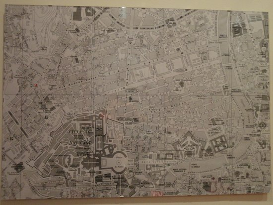 Arches B&B: Map of Rome
