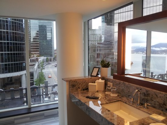 Fairmont Pacific Rim: A small sample of the huge bathroom