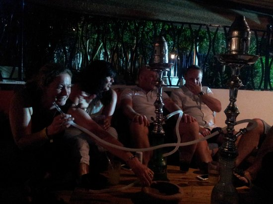Sultan Gardens Resort: Shisha pipe at the hotel after dinner