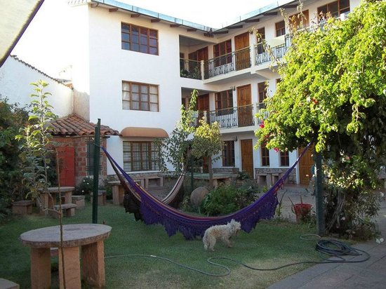 # Pachamama Hostel: The hostel and the beautiful garden area