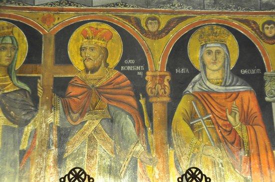 The Church of the Panagia : Affreschi con colori stupendi