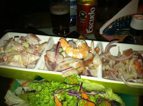 Makona Restaurant : trio of ceviche
