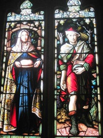 Parish Church of St. Brelade: stained glass