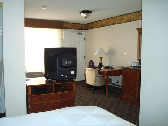 Radisson Hotel San Diego - Rancho Bernardo: Here yo can see the oddly placed TV.