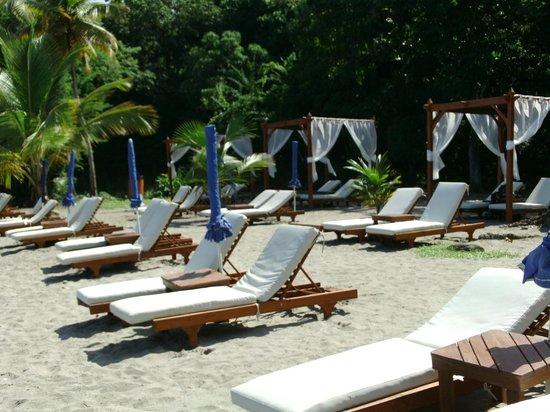Ti Kaye Resort & Spa: beach chairs