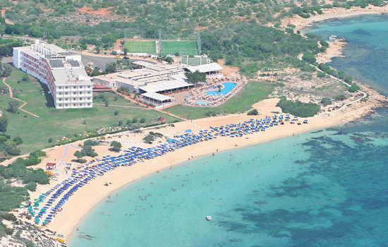 Asterias Beach Hotel: AERIAL WIDE