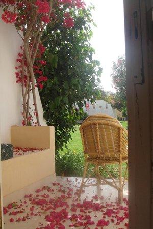 Tirana Dahab Resort: Терраса номера garden view.