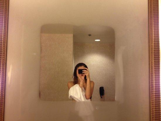 Hyatt Place Atlanta/Buckhead: Fog Resistant Mirror- Need this at home!!