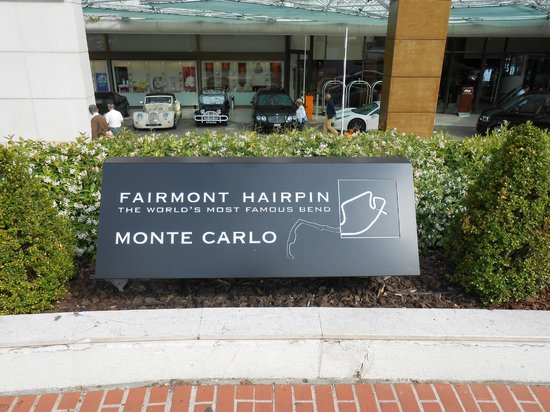 Monte Carlo Harbor: Fairmont Hairpin the world's most famous Bend Monte Carlo