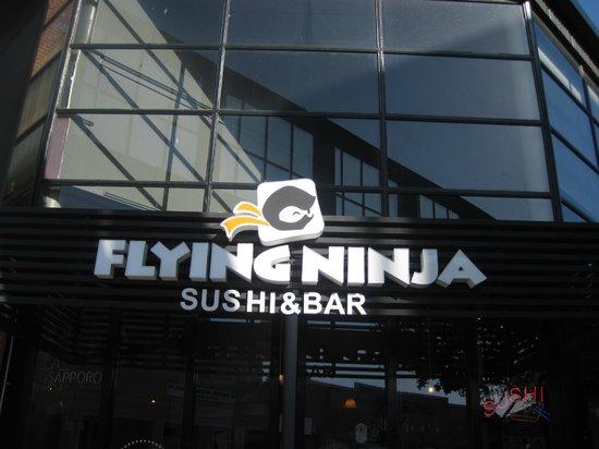Flying Ninja Sushi and Bar: Exterior signage. Great name!