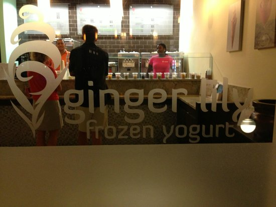 Ginger Lily Frozen Yogurt: Open faced delicatessen...