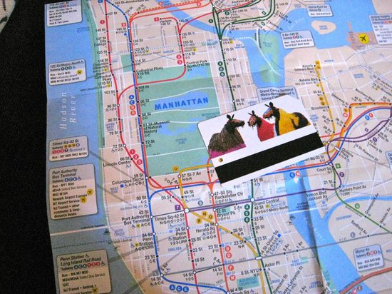 Margot Guest House: Subway map / weekly card we used greatly!