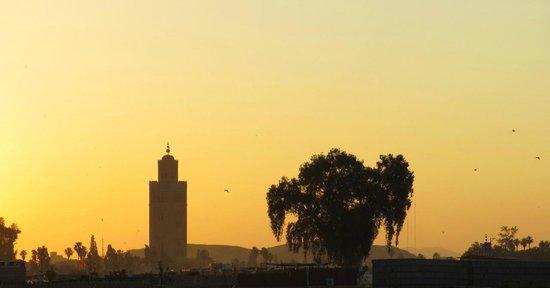 Riad Al Badia: coucher de soleil depuis la terrasse